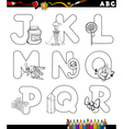alphabet for coloring book vector image