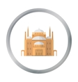 Cairo Citadel icon in cartoon style isolated on vector image
