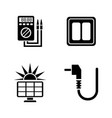 electric energy simple related icons vector image