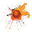 Fire Basketball Ball3 vector image
