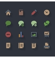 Flat Icons Volume 1 vector image