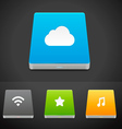 Portable Data Storage Hard Disc Drive Icons vector image