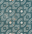 Vintage geometric seamless background old repeat vector image