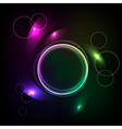 Abstract background with the ball and the color el vector image vector image