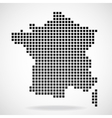Pixel map of France vector image