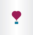 hot air balloon heart icon symbol vector image