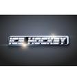 The word Hockey Symbol of sport vector image