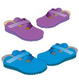 two pair of slippers vector image vector image