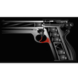 gun against drugs vector image vector image