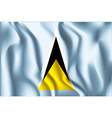 Flag of Saint Lucia Aspect Ratio 2 to 3 vector image
