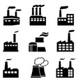 industrial buildings factories and power plants vector image vector image