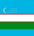 national flag of uzbekistan republic vector image