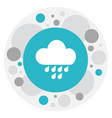 of air symbol on rainfall icon vector image