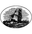 ship in the sea vector image