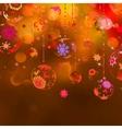 Elegant Christmas Baubles Background vector image vector image