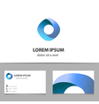 Abstract infinity logo design template vector image