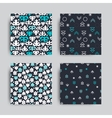 decorative seamless patterns set vector image