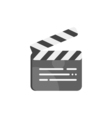 flat style of clapboard Icon for web vector image