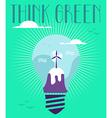 Green winter idea concept vector image