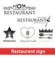 Restaurant sign vip vector image