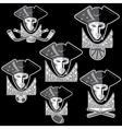 revolutionists soldiers sport teams labels set vector image
