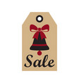 sale new year badge and bell vector image