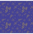 Seamless Doodle Space Pattern vector image