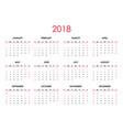 the 2018 calendar vector image