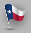 Triangle american state texas flag vector image