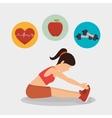 woman athlete avatar fitness sport vector image
