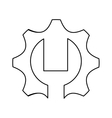 gear and wrench icon vector image