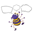 A colorful bee with empty callouts vector image vector image