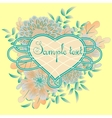 Heart frame with bunch of flowers vector image