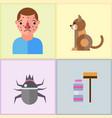 allergy symbols disease healthcare tablets viruses vector image