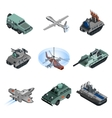 Military Equipment Isometric vector image