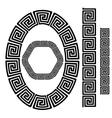 Set of Greek Ornamenal Frames vector image