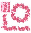 flower frame pink 1 380 vector image