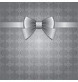 silver bow vector image