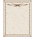 old paper background with ornament vector image vector image