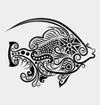 Decorative fish 2 vector image vector image