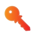 Key sign  Orange applique isolated vector image