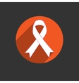 Breast cancer awareness red ribbon on white vector image