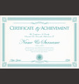 certificate or diploma retro vintage background 2 vector image