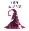happy halloween poster design template vector image