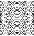 Princess linear black pattern with crowns vector image