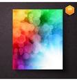 Rainbow abstract pattern above a sunburst vector image