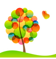 tree and butterfly vector image