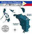 Map of Mindoro island vector image