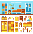 Baby Room Furniture Infographics vector image
