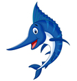 Marlin fish cartoon vector image vector image
